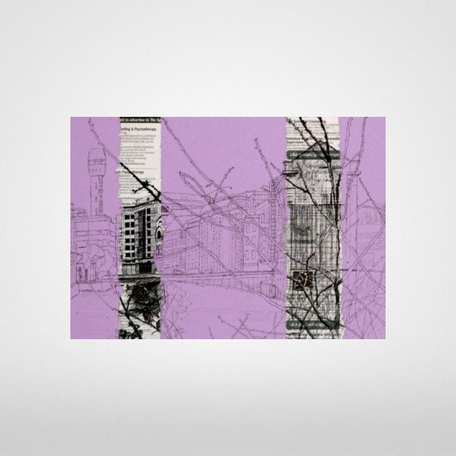 Lead Shot Tower on lilac Print by Lisa Malyon at The Bristol Shop