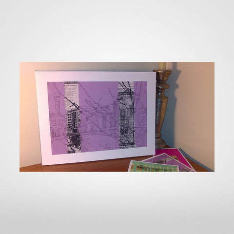 Lead Shot Tower on lilac Print by Lisa Malyon