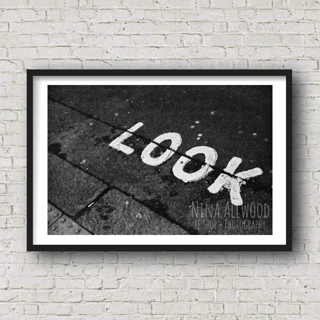 Look! London - B&W Photographic Print by Nina Allwood | The Bristol Shop
