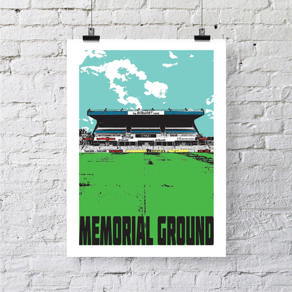 Memorial Ground Bristol A4 or A3 Print by Susan Taylor | The Bristol Shop