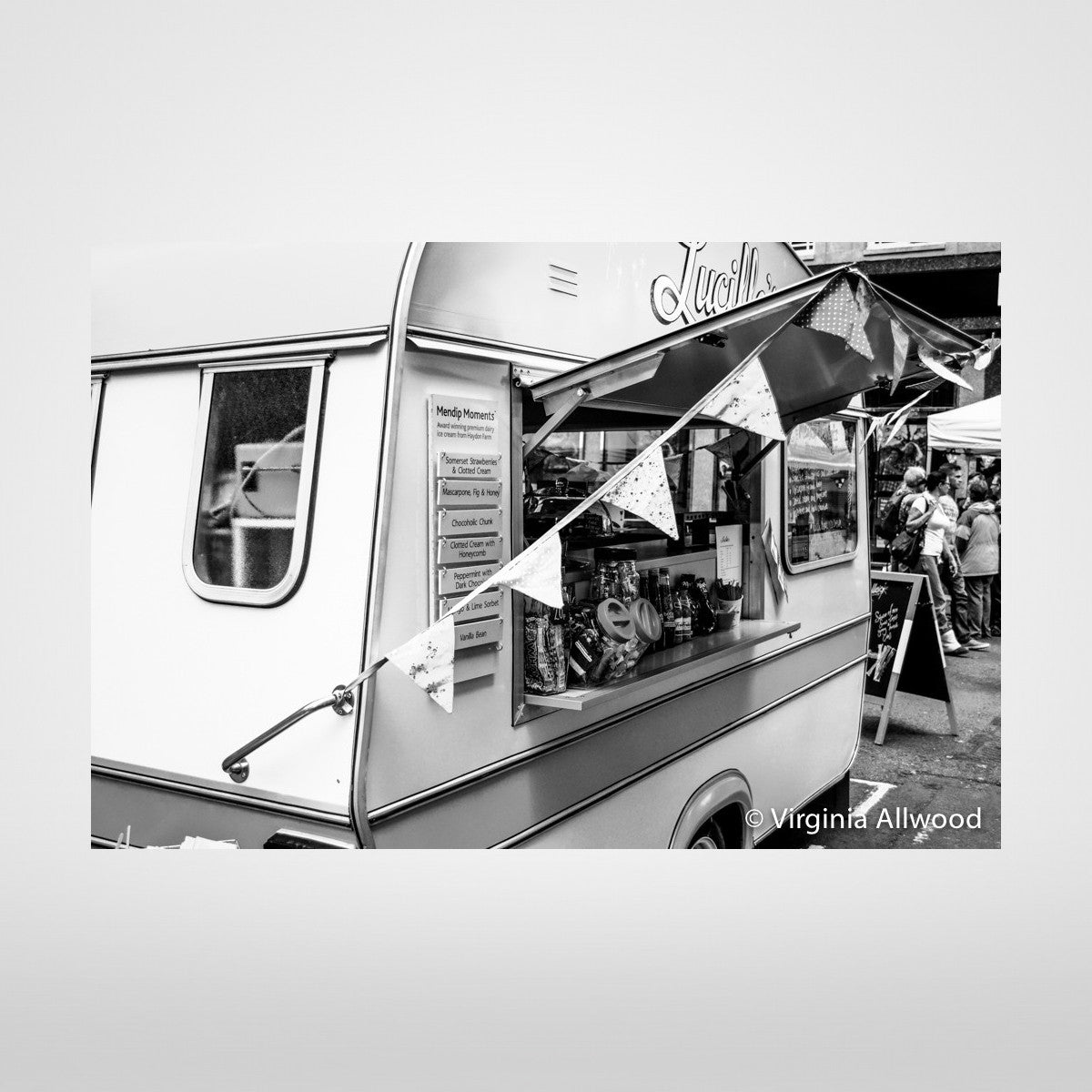 Market Treats - B&W Photographic Print by Virginia Allwood at The Bristol Shop