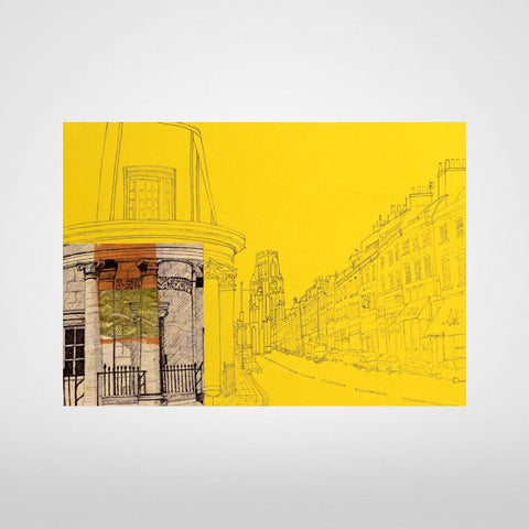 Bristol Park Street on Yellow Print by Lisa Malyon at The Bristol Shop