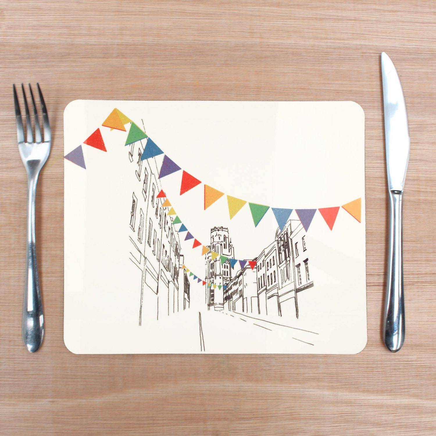 Park Street, Bristol Placemat by Rolfe & Wills | The Bristol Shop