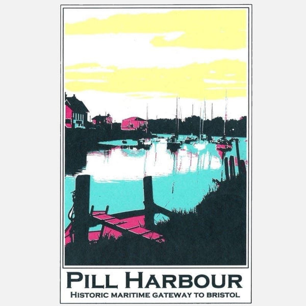 Pill Harbour Screen Print | Bristol Art by Abi Murray at The Bristol Shop