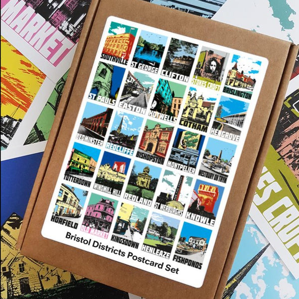 Bristol Districts Postcards, Set of 25 by Susan Taylor