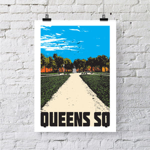 Queens Square Bristol A4 or A3 Print by Susan Taylor | The Bristol Shop