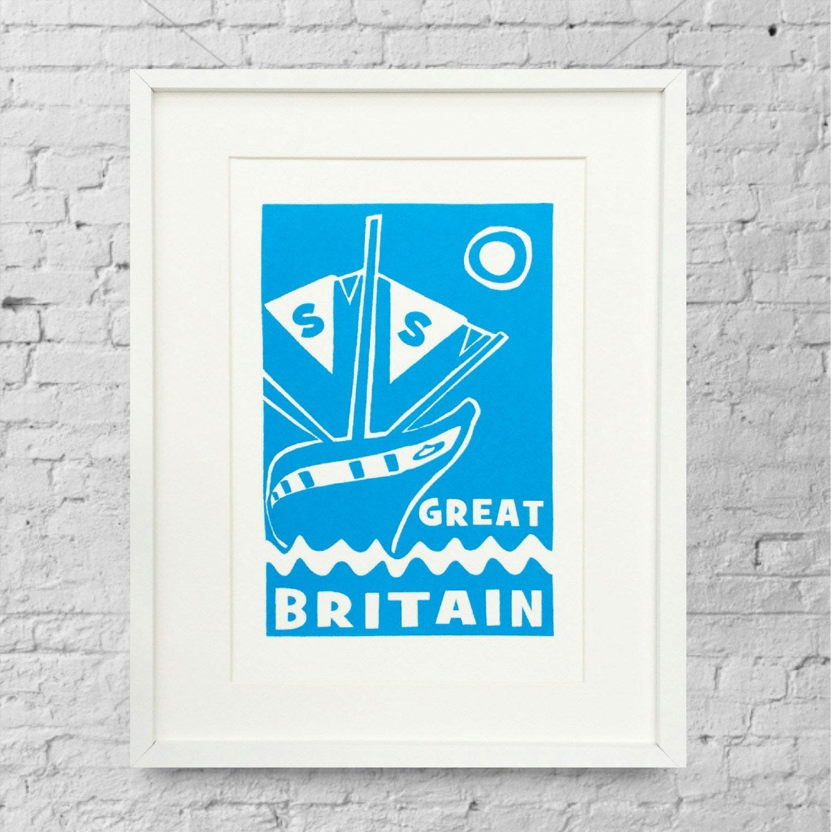 ss Great Britain Limited Edition Blue Screen Print by Lou Boyce at The Bristol Shop