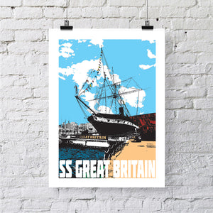 SS Great Britain Urban A4 or A3 Print by Susan Taylor | The Bristol Shop