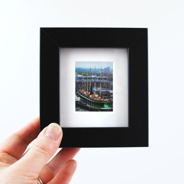 Mini Framed Print of the SS Great Britain surrounded by a Giant Lime Jelly