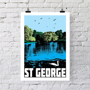St George Bristol A4 or A3 Print by Susan Taylor | The Bristol Shop