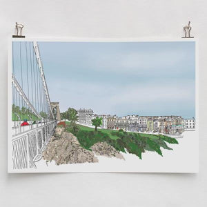 Sion Hill A4 Art Print by Rolfe & Wills | The Bristol Shop