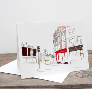 Stokes Croft Bristol Greetings Card by Rolfe & Wills | The Bristol Shop