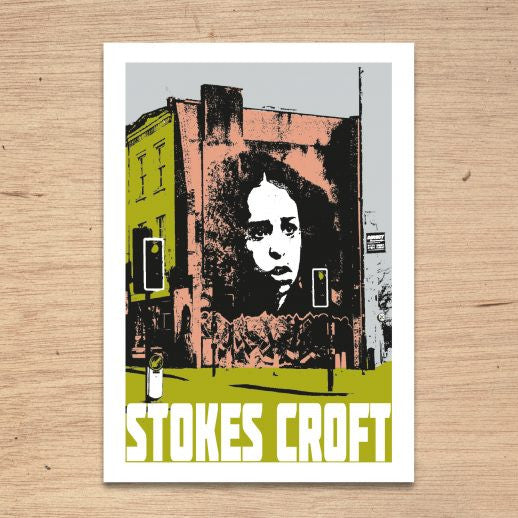 Stokes Croft Bristol, A4 Print by Susan Taylor Art | The Bristol Shop