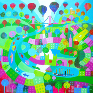 Summer on the River - Giclee Print by Jenny Urquhart at The Bristol Shop