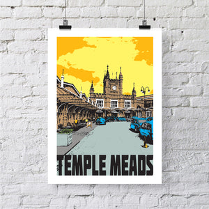 Bristol Temple Meads A4 or A3 Print by Susan Taylor | The Bristol Shop