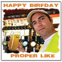 'Happy Birfday Proper Like' card starring Bristol's Terry the Odd Job Man