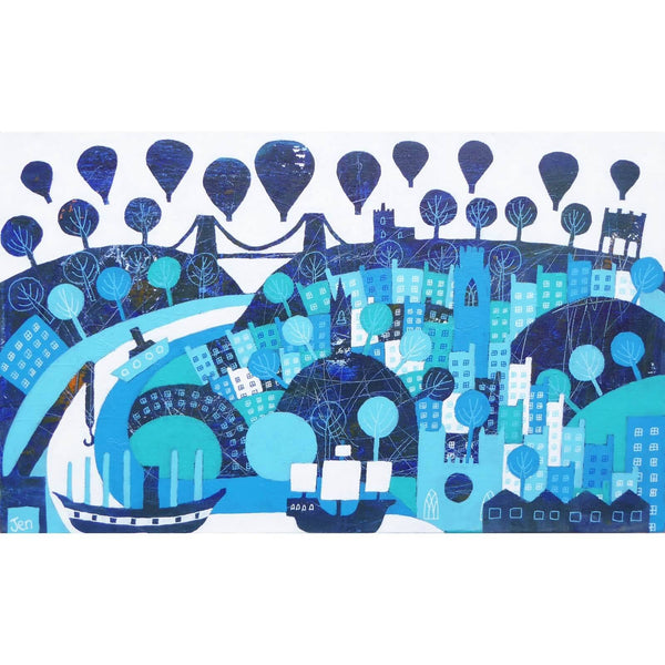 The Bristol Blues - Giclée Print by Jenny Urquhart | The Bristol Shop