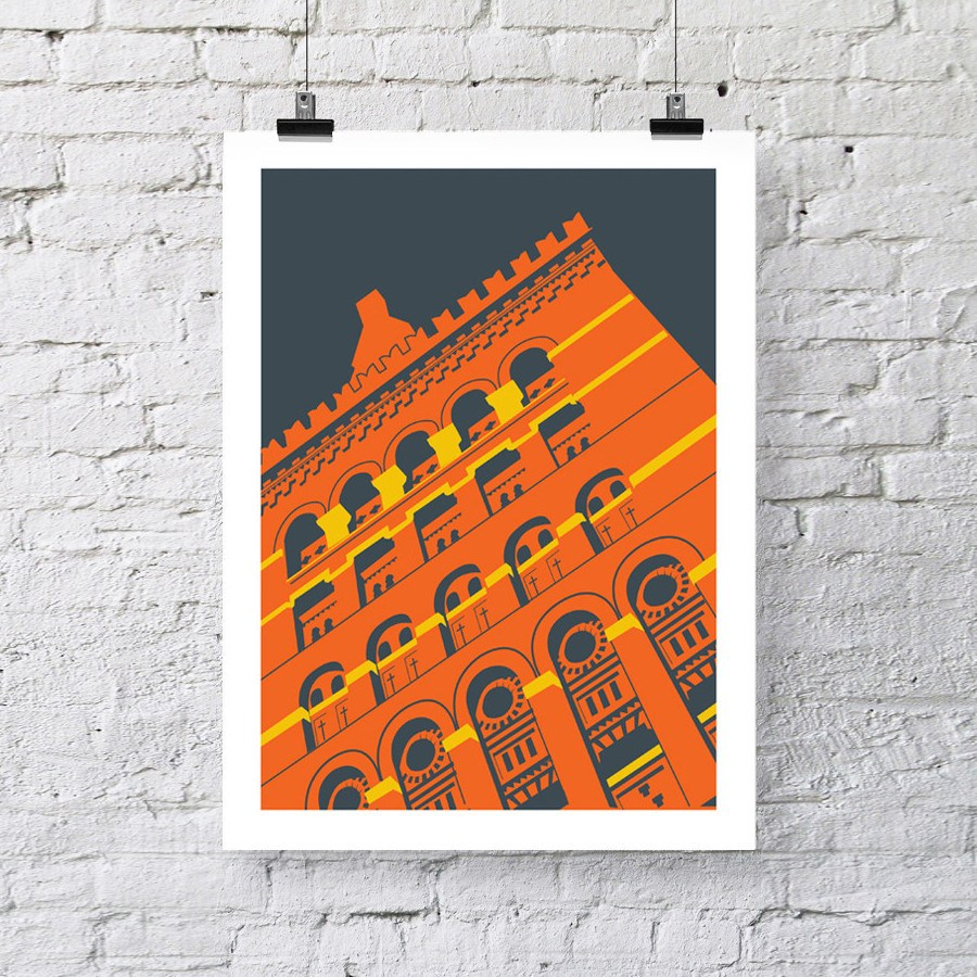 The Granary, Bristol Architectural Art Print by Susan Taylor Art at The Bristol Shop