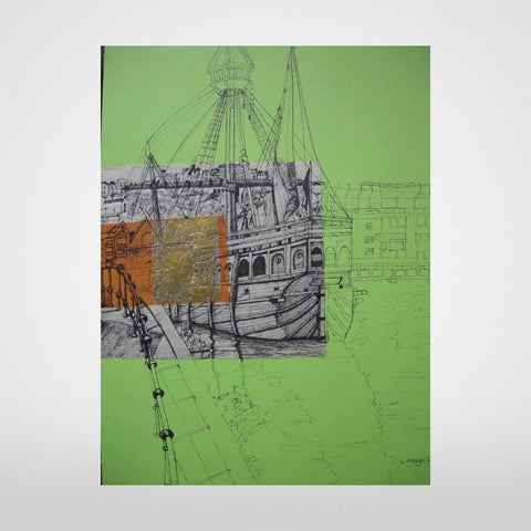 The Matthew on Green Print by Lisa Malyon at The Bristol Shop
