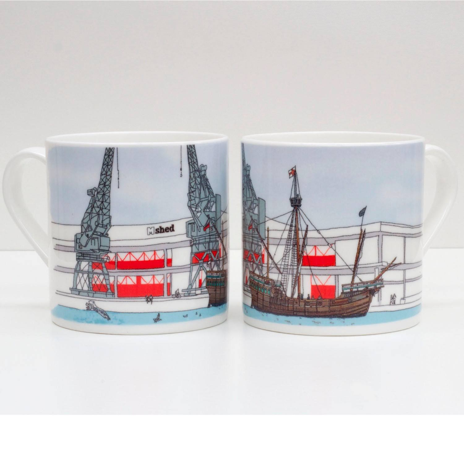 The Matthew Bone China Mug by Rolfe & Wills | The Bristol Shop