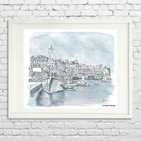 The Underfall Boatyard Limited Edition Giclée Print by Susie Ramsay | The Bristol Shop