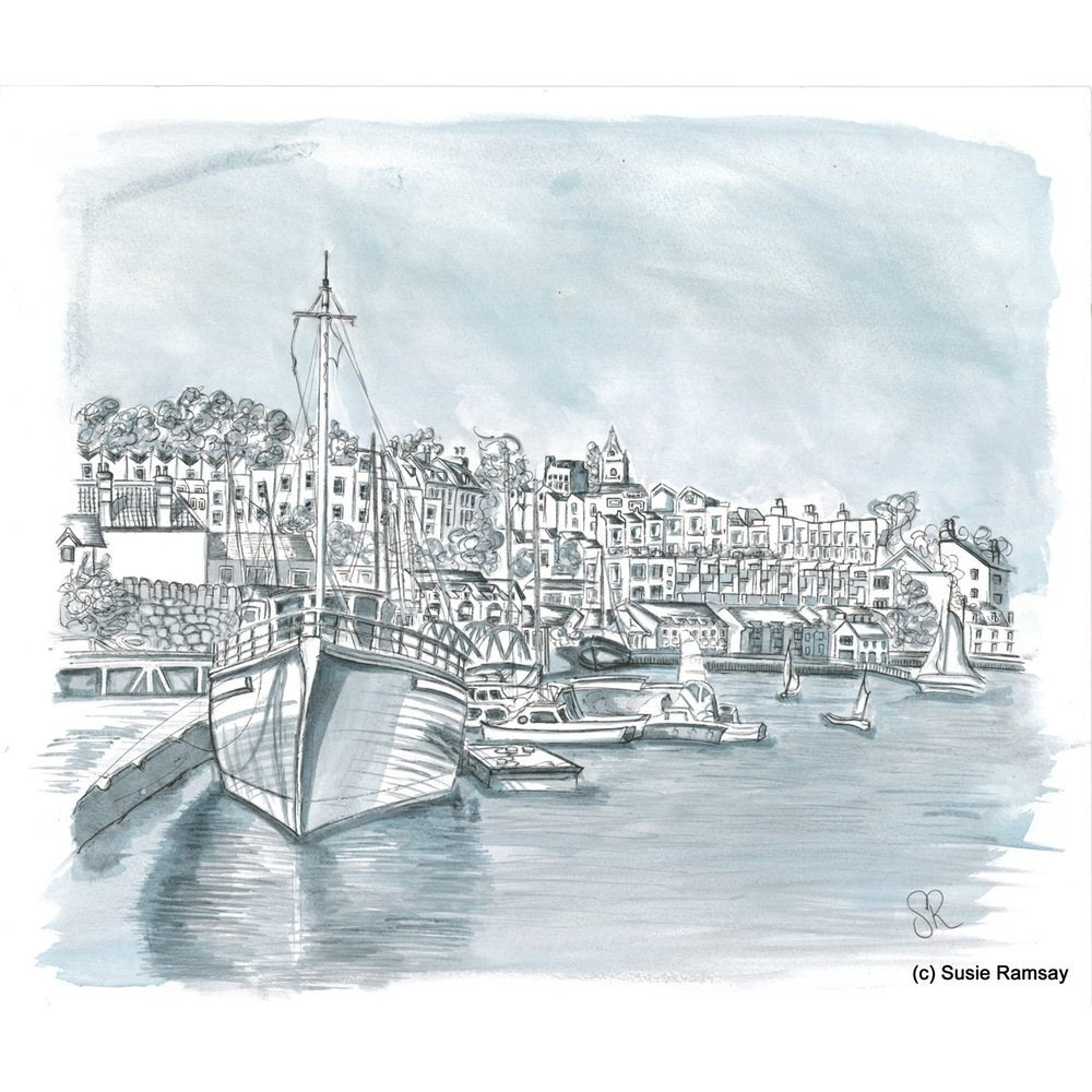 The Underfall Boatyard Postcard by Susie Ramsay | The Bristol Shop