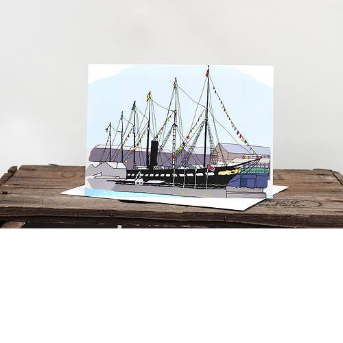 ss Great Britain Greetings Card by Rolfe & Wills | The Bristol Shop