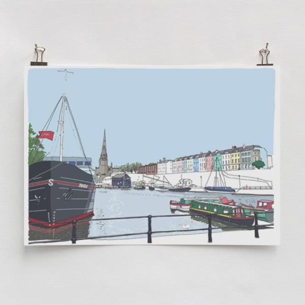 The Thekla A4 Art Print by Rolfe & Wills | The Bristol Shop