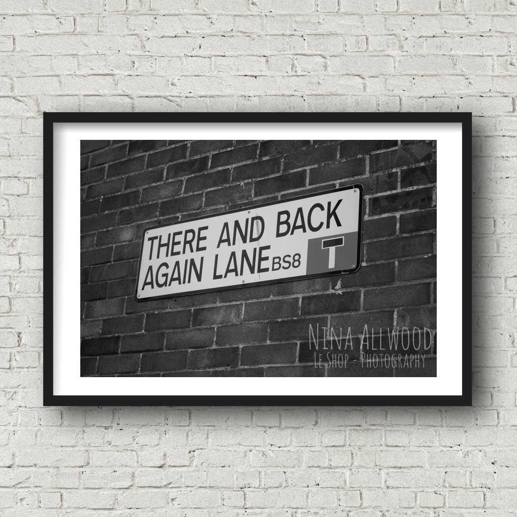 There and Back Again Lane - B&W Photographic Print by Nina Allwood | The Bristol Shop