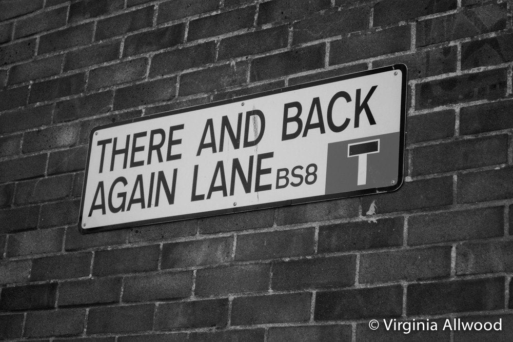 There and Back Again Lane - B&W Photographic Print by Nina Allwood