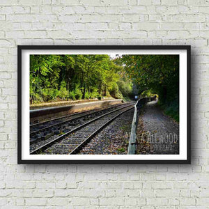 Train Tracks, Bristol-Bath Cycle Path  - Photographic Print by Nina Allwood