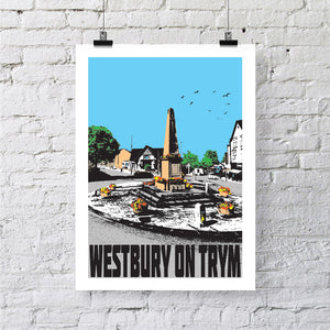 Westbury-on-trym Bristol A4 or A3 Print by Susan Taylor | The Bristol Shop