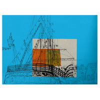 Isambard Kingdom Brunel's SS Great Britain on Blue Print by Lisa Malyon