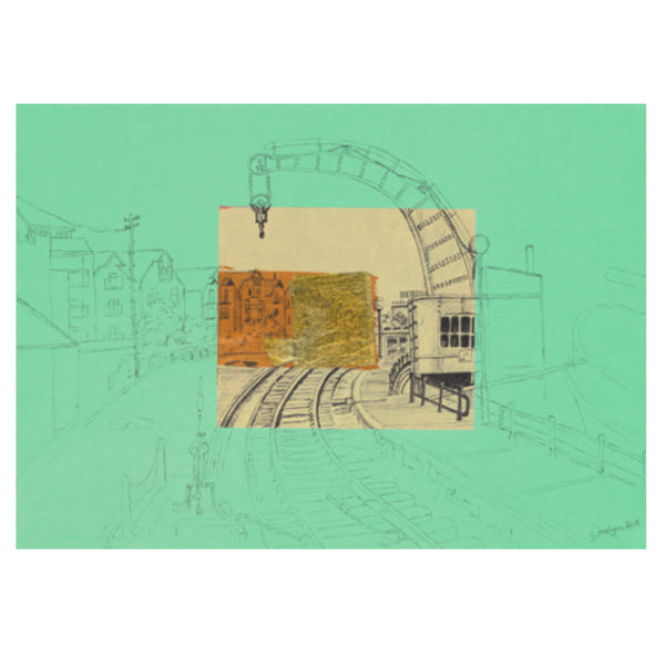 Fairbairn Steam Crane Print on Jade by Lisa Malyon