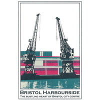 Bristol Harbourside in Blue, A3 Screen Print by Abi Murray | The Bristol Shop