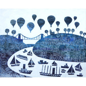 Bristol in Winter - Giclée Print by Jenny Urquhart