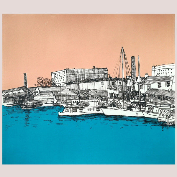 Bristol Silkscreen Print, The Underfall Yard Art by Bristol Artist, Amy Hutchings
