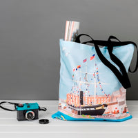 Floating Bristol Tote Bag by Dona B drawings