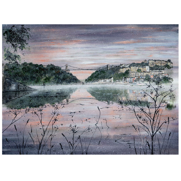 Clifton Suspension Bridge at Dusk Art by Lynette Bower