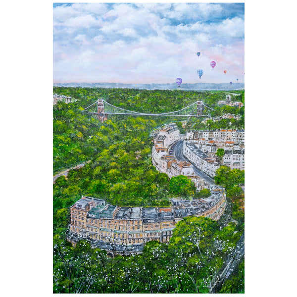 Clifton Suspension Bridge A5 - A1 Giclée Print by Lynette Bower