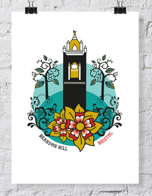 Bristol Brandon Hill Cabot Tower Print, A4 or A3 Print by Susan Taylor | The Bristol Shop