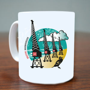 Bristol Harbourside Cranes Mug by Susan Taylor | The Bristol Shop