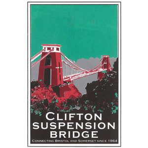 Clifton Suspension Bridge in Brown, A3 Screen Print by Abi Murray | The Bristol Shop