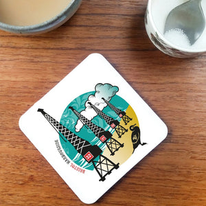 Bristol Harbourside Cranes Coaster by Susan Taylor | The Bristol Shop
