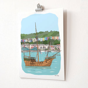 The Matthew A4 Giclée Print by dona B drawings | The Bristol Shop