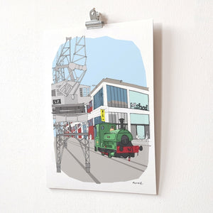 M Shed Bristol A4 Giclée Print by dona B drawings | The Bristol Shop