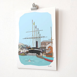 ss Great Britain A4 Giclée Print by dona B drawings | The Bristol Shop