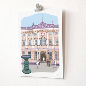 St Nick's Market A4 Giclée Print by dona B drawings | The Bristol Shop