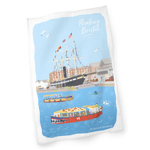 Floating Bristol Tea Towel by Dona B drawings | The Bristol Shop