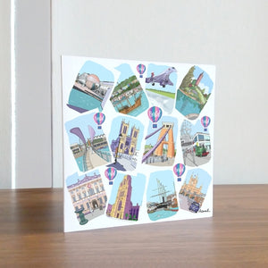 Bristol Sketches Greetings Card by Dona B drawings | The Bristol Shop